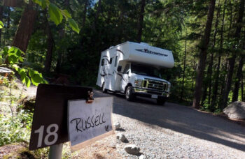 RV on pre-booked campground